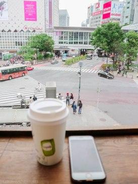 View from Starbucks Shibuya