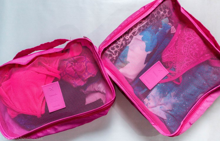 pink travel cubes cebu philippines what's in my bag