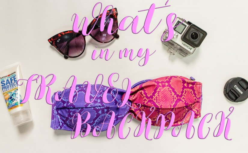 What's in my Travel Backpack (forSiargao)