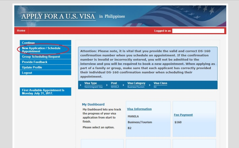 A Filipino's Guide to a US Visa Online Application/ Appointment